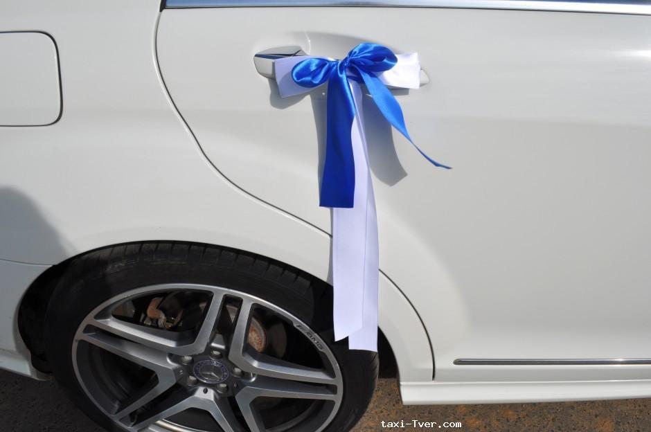 Банты на ручки машины на свадьбу своими руками